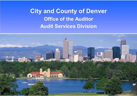 "top part of ""City and County of Denver's 2008 Annual Report"" cover"